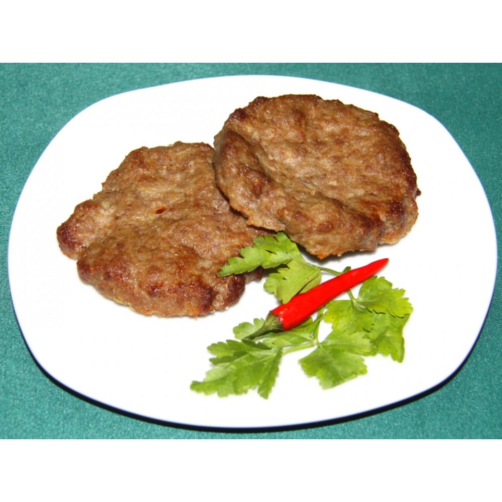 Бифштекс натуральный рубленный из свино-говяжьего фарша (дом)