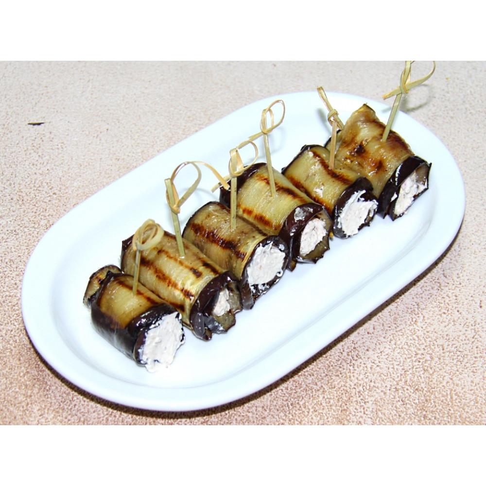 Баклажаны с сырно-ореховым стержнем