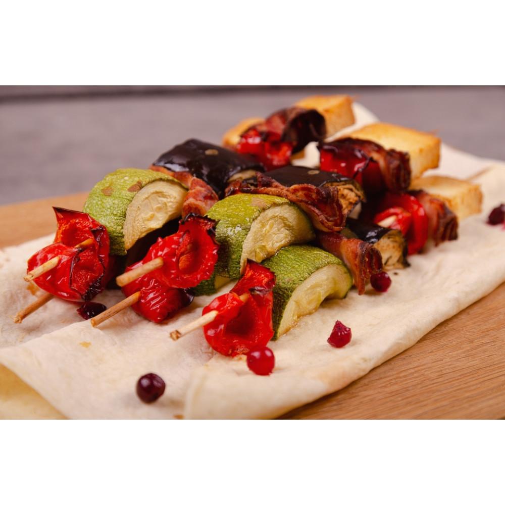 Шашлычок из перца болгарского, баклажанов, цукини