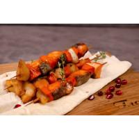Шашлычок из семги, тилапии и тыквы