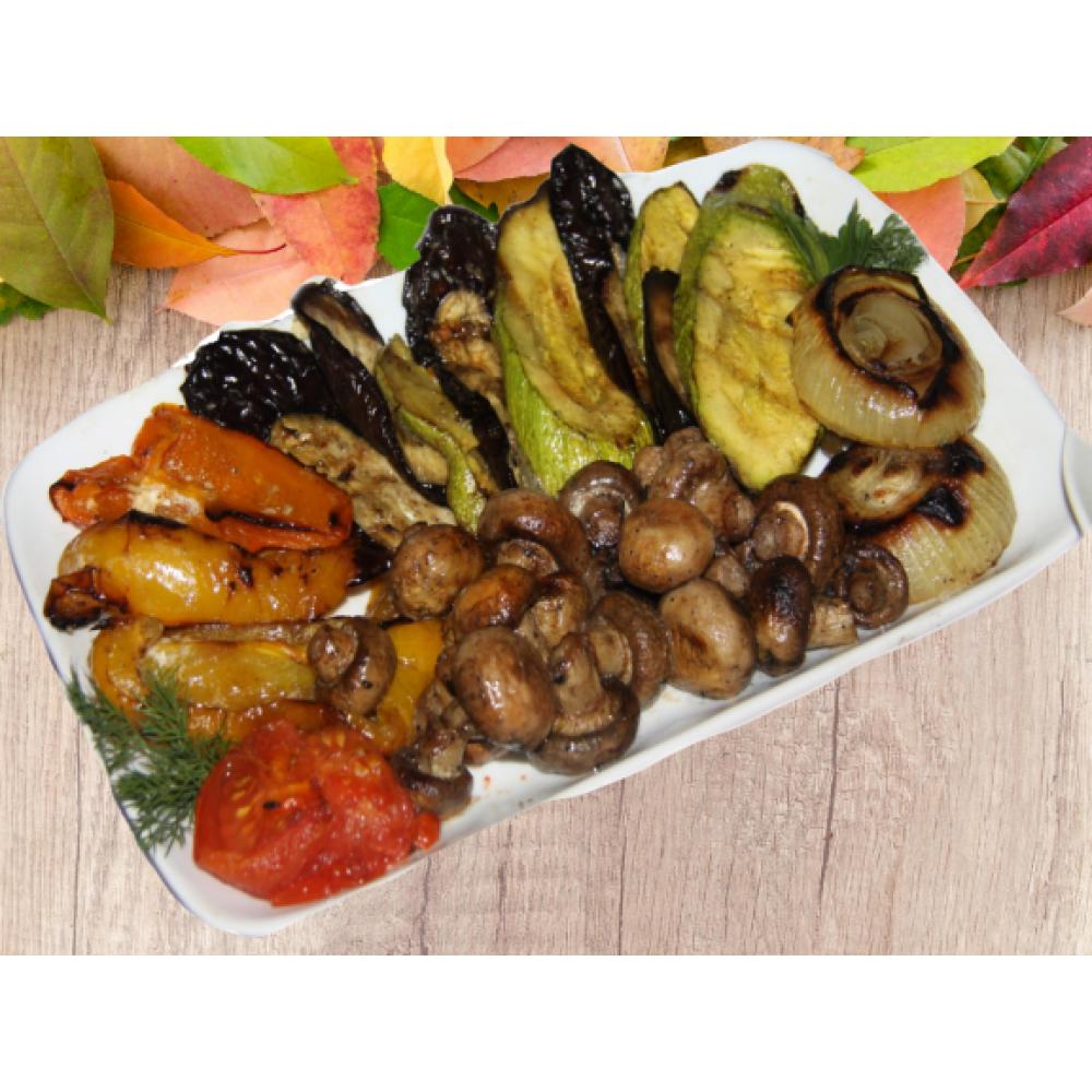Овощи в ассортименте на мангале (дом)