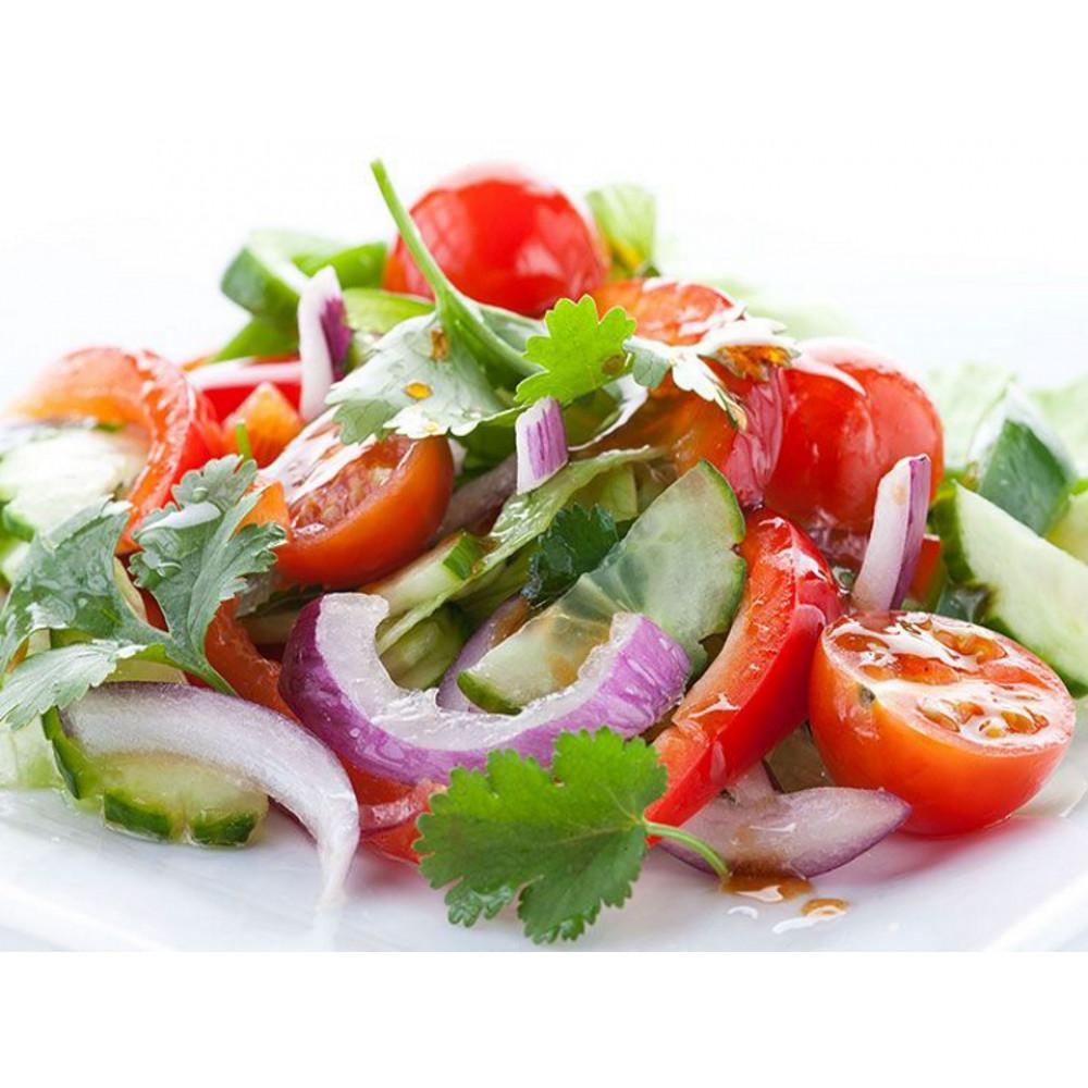 Салат из помидоров и огурцов (офис)